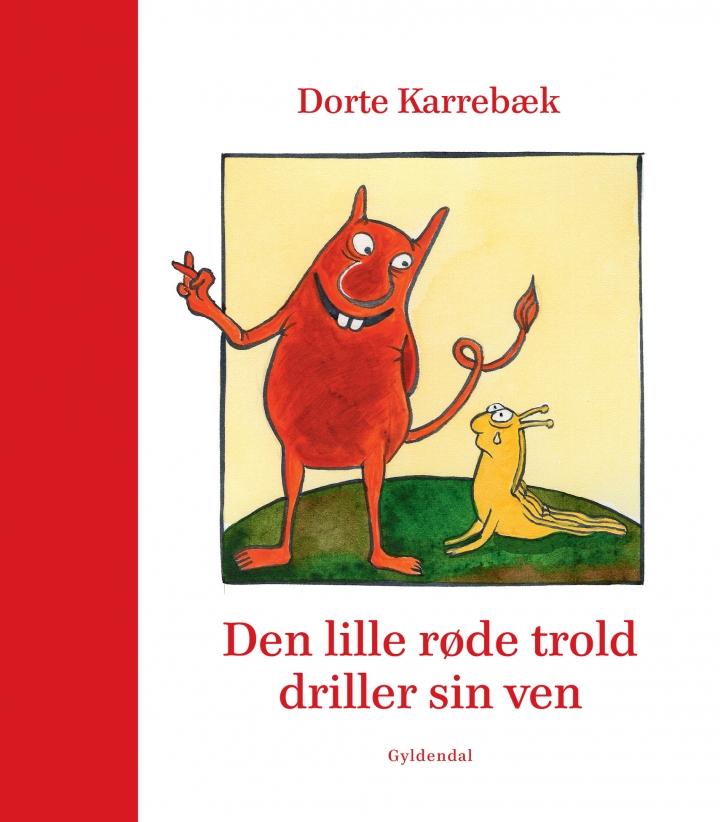 Bogforside Den lille røde trold driller sin ven