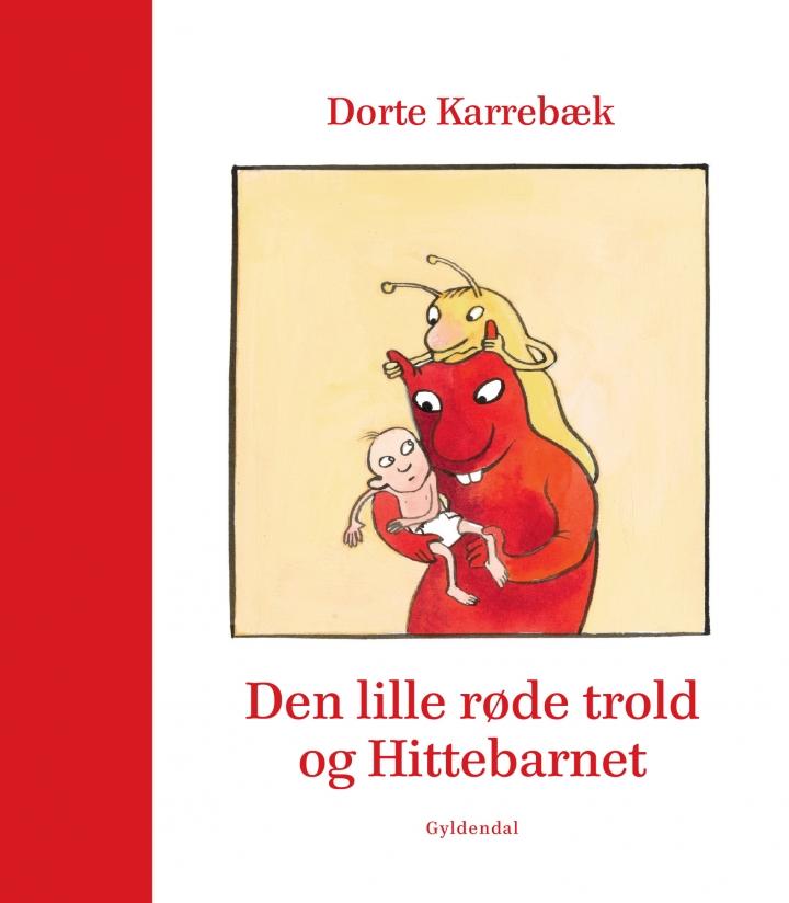 Bogforside Den lille røde trold og hittebarnet