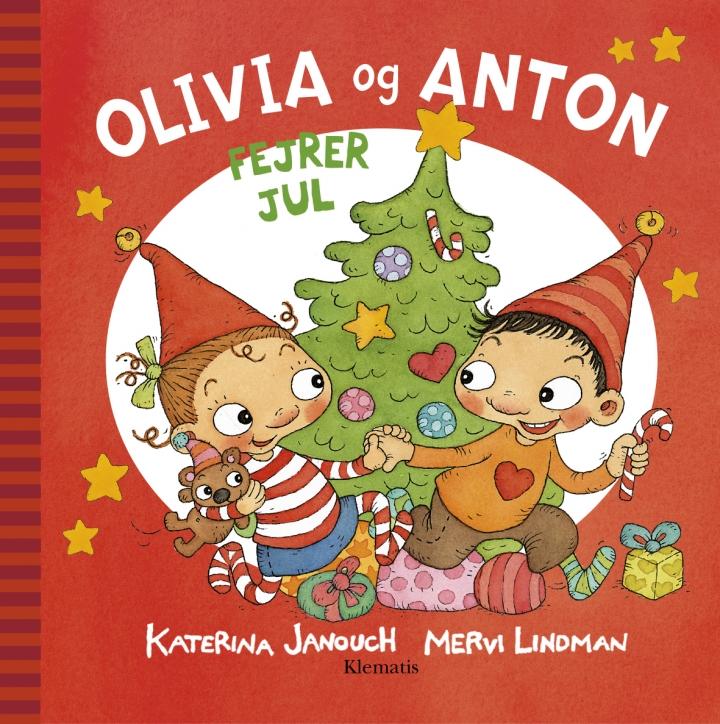 Bogforside Olivia og Anton fejrer jul